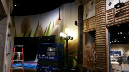 Indoor Decor grapchis store design adhesive vinyl wallpaper custom