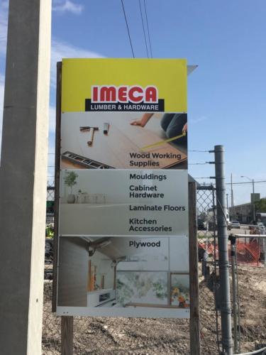 Outdoor Signage, Construction Signage, Aluminum rigid printing