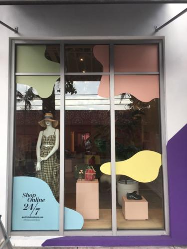 Window Decor, Vinyl Store Front Showcase Art